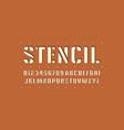 decorative stencil-plate sans serif font vector image vector image
