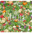 different colorrful vegetables vector image