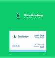dubai hotel logo design with business card vector image