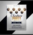 elegant christmas party flyer design template vector image