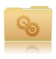 Folder with gearwheels vector image vector image