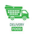 food delivery concept vector image