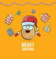 funky comic cartoon cute brown smiling vector image vector image