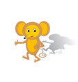 Funny cartoon mouse vector image vector image