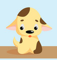 funny little dog puppy pet cartoon dog vector image vector image
