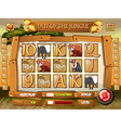Game template with wild animals in jungle vector image vector image