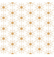 geometric linear pattern ornament for fabric vector image vector image