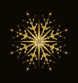 gold glittering snowflake vector image
