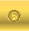 golden five stars icon vector image vector image