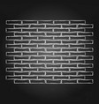 graphic brick wall drawn in the engraving vector image vector image