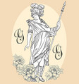 greek god the mythological hero of ancient vector image vector image