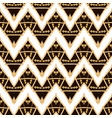 hand drawn golden ethnic seamless pattern vector image vector image