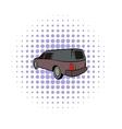 Hearse icon comics style vector image