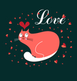 in love with a cat vector image vector image