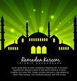 Islamic design with green background vector image