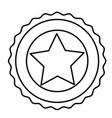 isolated usa star inside seal stamp design vector image