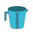 jar with handle and measure scale colorful blurred vector image