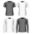 long-sleeved and short-sleeved vector image vector image