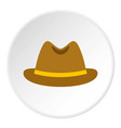 man hat icon circle vector image vector image
