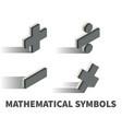 mathematical symbols icon symbol vector image vector image