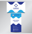 modern professional blue curve business card vector image vector image