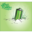 More energy more power vector image