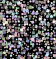 Mosaic seamless pattern on black background vector image