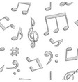 music signs notes and symbols on white background vector image