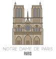 Notre Dame De Paris Pari vector image