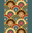 paisley pattern indian art of painting and for vector image vector image