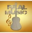 real music gold stencil guitar vector image vector image