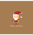 Santa Girl Claus for christmas card vector image
