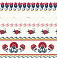 seamless ethnic floral pattern red on white vector image vector image