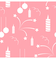 Seamless of set for Happy New Year vector image vector image