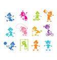 set cartoon children vector image
