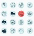 set of 16 ecology icons includes love flower vector image vector image