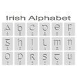 Set of monochrome icons with irish alphabet vector image vector image