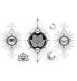 set ornamental boho chic style elements vector image vector image