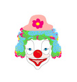smiling cartoon clown vector image