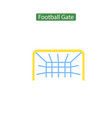 soccer gate flat icon vector image vector image