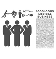 Team Icon with 1000 Medical Business Symbols vector image vector image