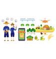 thailand smart farmer and farming concept vector image vector image