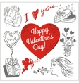 Valentines day - set vector image