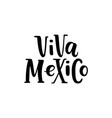 viva mexico hand drawn lettering phrase isolated vector image vector image