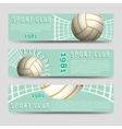 Volleyball horizontal banners template vector image