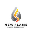 water gas oil flame logo design vector image