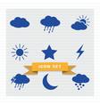 weather icon set flat style vector image