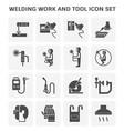 welding work icon vector image vector image