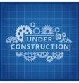 Blueprint website backdrop Under construction vector image