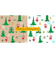 christmas two seamless patterns vector image